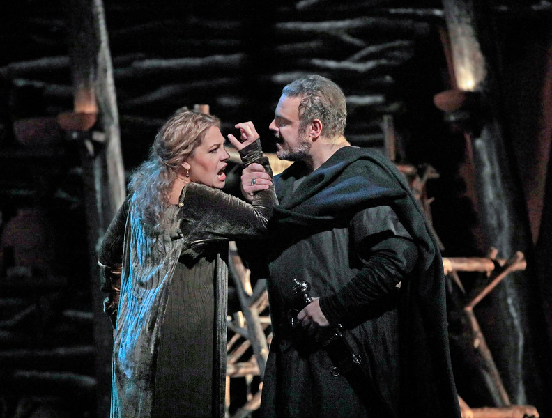 Norma rages against Pollione. Pollione is Joseph Calleja