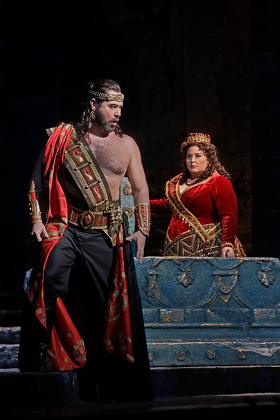 Ildar Abdrazakov as the evil Assur conspires with Semiramide