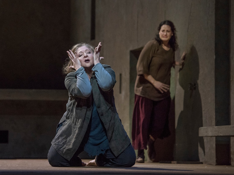 Christine Goerke and Elza van den Heever in the Met's  Elektra