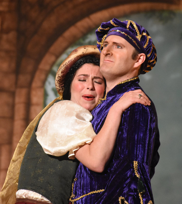 Brett Kroeger as Amiam and David Richy as Niccolù, the young lovers