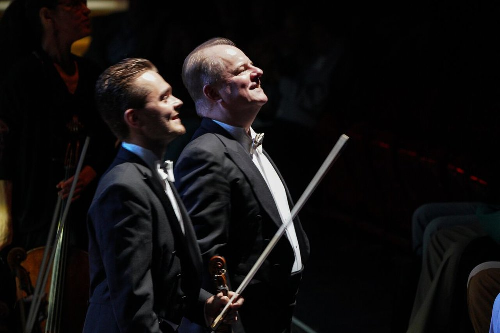 Jakob Lehmann, First Violin, and Will Crutchfield lead the Opera Nuovo Orchestra