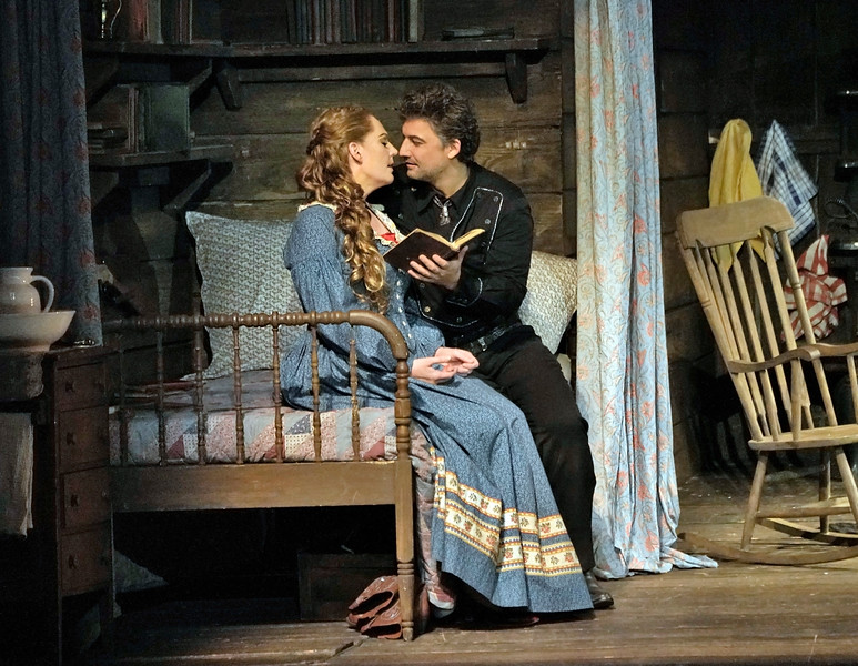 Jonas Kaufmann as Dick Johnson at Minnie's home in Act II