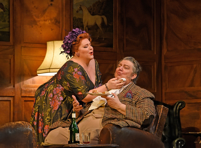 Mistress Quickly finds compelling methods to soften any of Falstaff's resistance