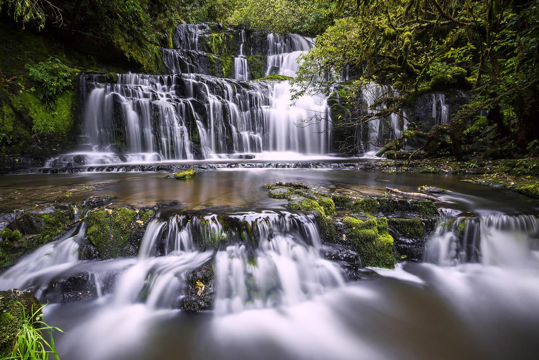 Purakaunui Falls, The Catlins. New Zealand. — DK Photography - Landscape, Wedding, Portrait & Event Photographers