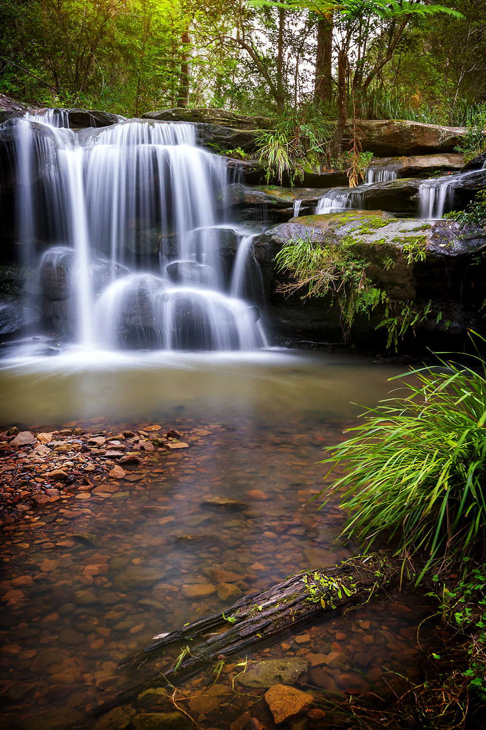 Hunts Creek Waterfall, NSW.