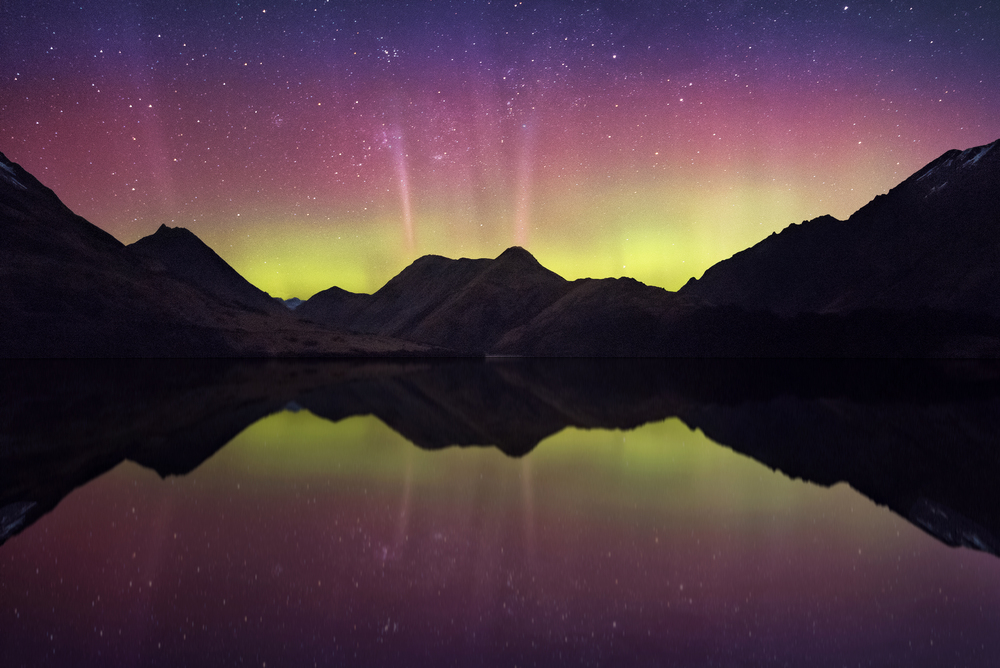 Lake Moke Aurora, New Zealand