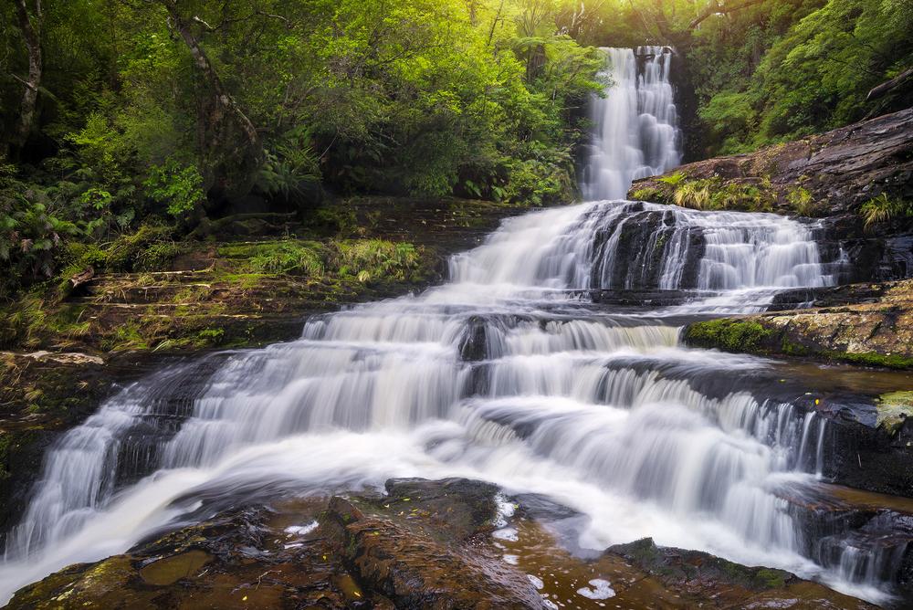 Upper McLean Falls, New Zealand