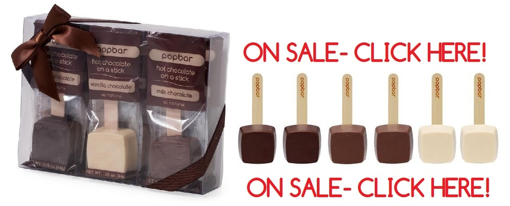 Hot Chocolate on a Stick Season Has Arrived! Create your own chocolatey goodness by stirring our Hot Chocolate on a Stick into a cup of steamed milk. Made with a premium blend of the finest, all natural chocolate in Dark Chocolate, Milk Chocolate, and Vanilla Chocolate. Available in three pack, six pack, and twelve pack gift boxes.