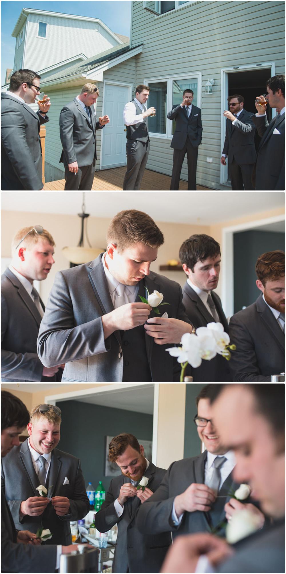 Halifax Wedding Photos getting ready groom