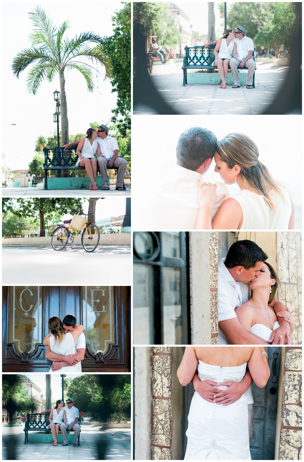 cuba collage of wedding photos