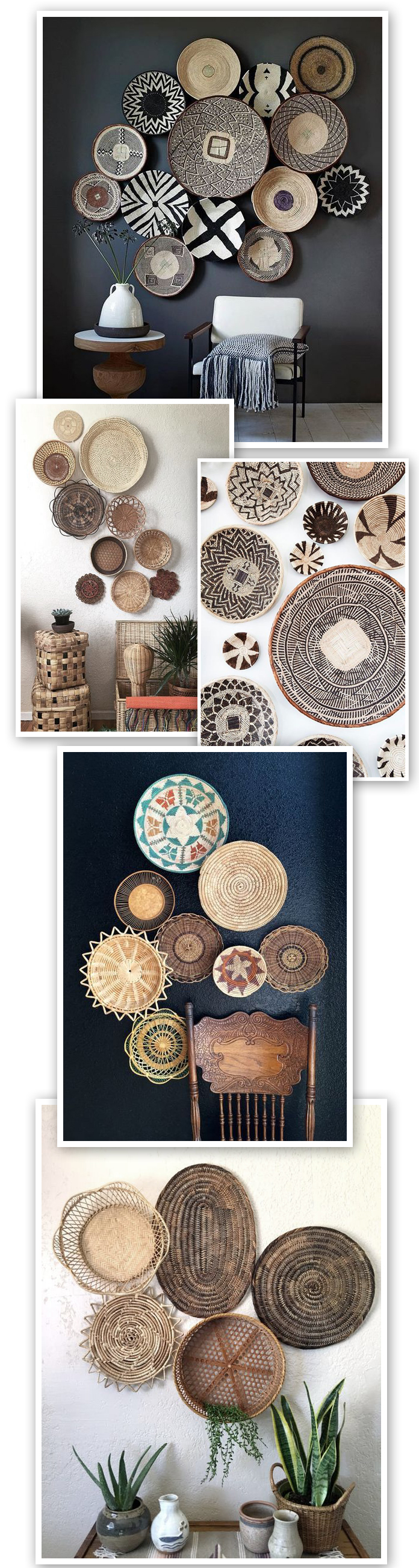 Baskets as Wall Art
