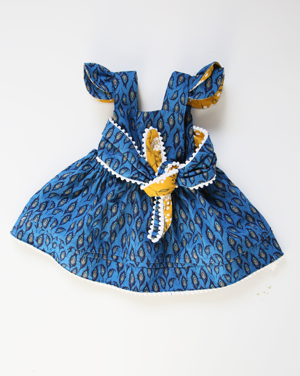 Paisley Blue and Gold Dress by Jessica Quirk