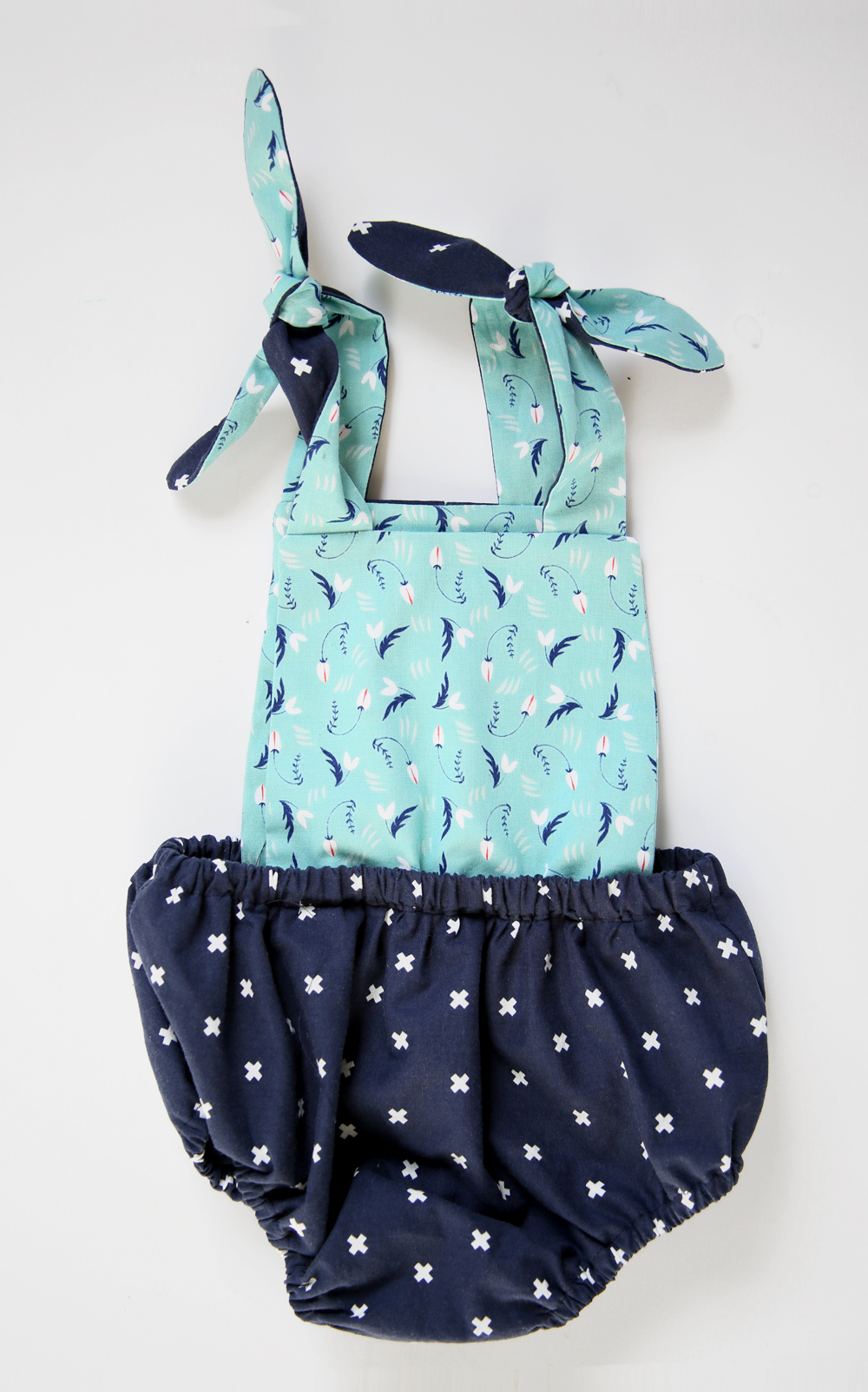 Navy and Aqua Back by Jessica Quirk