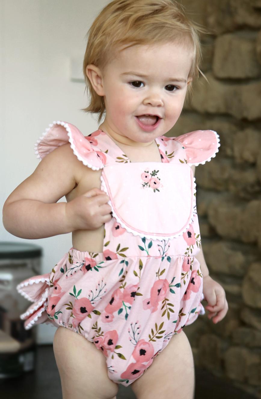 Handmade Pink Romper for Toddler Girl .jpg