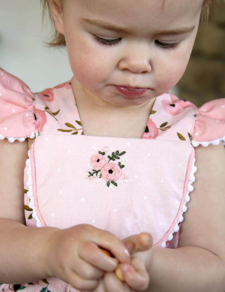 Handmade Pink Romper for Toddler Girl jpg