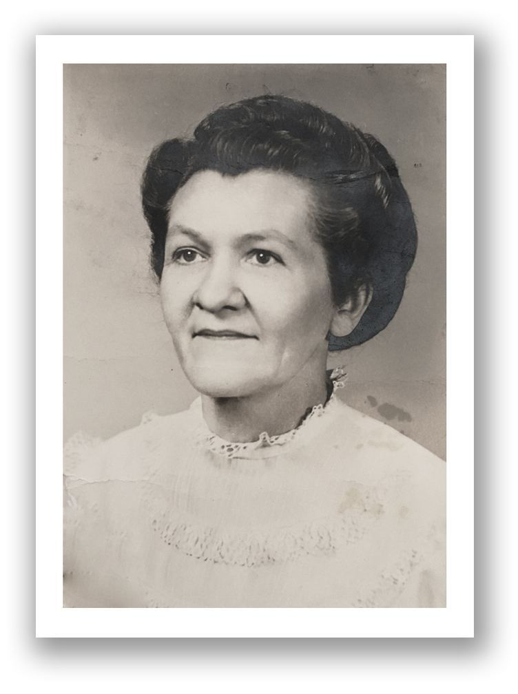 a never before seen (to me!) photo of my great grandma eva.