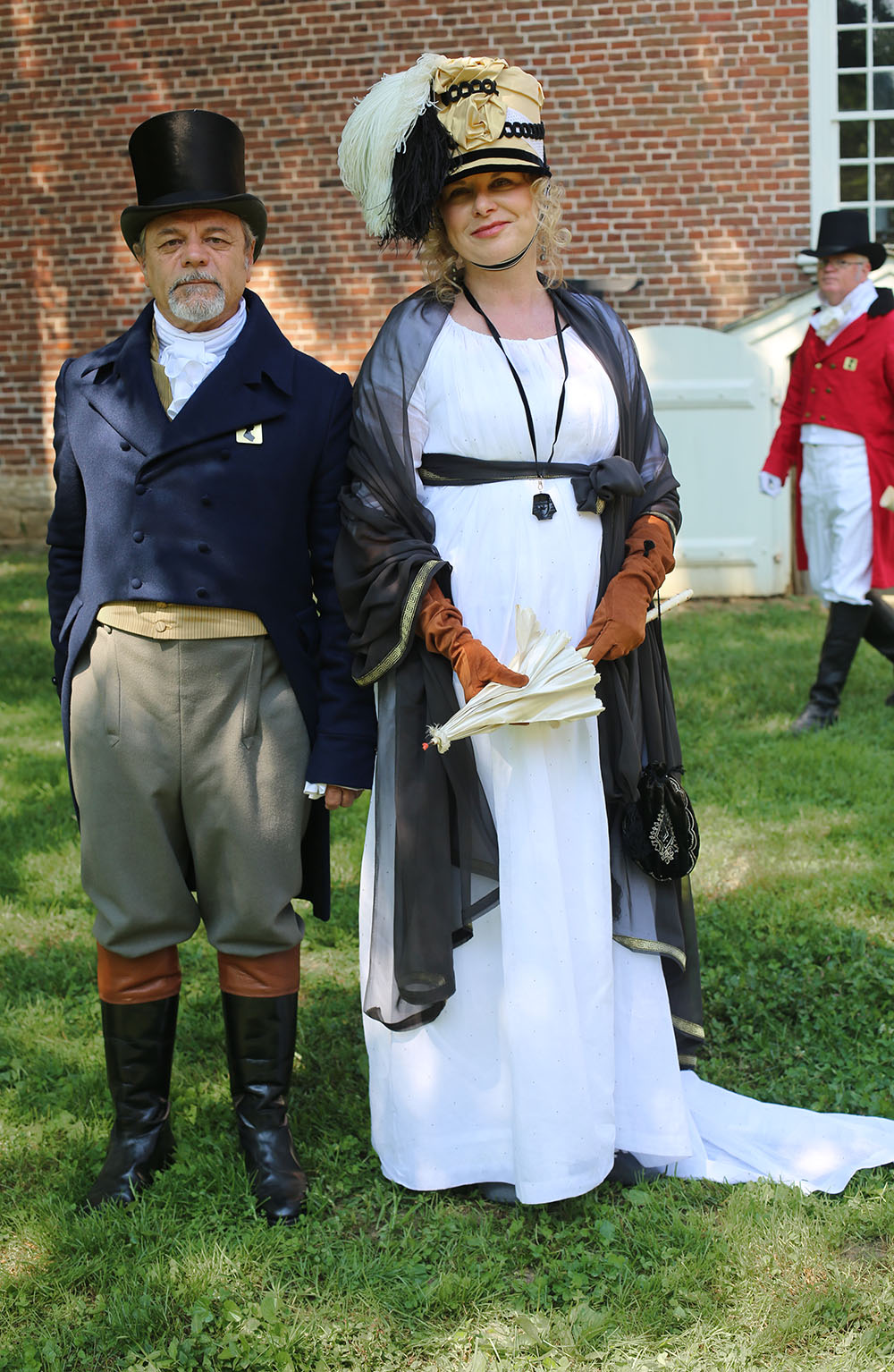 JAF+Handsome+Couple+and+Elegant+Gent+in+Background - Jane Austen Pageant at Locust Grove 2018