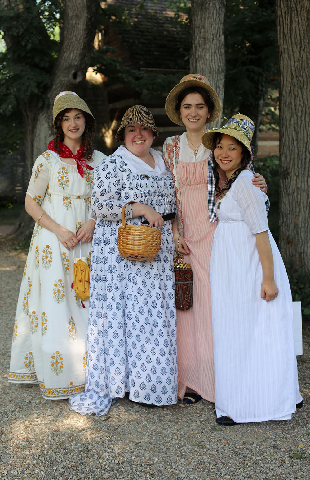 This is a group of regency fans from St. Louis! They were the first ladies I saw as I arrived to the festival and all looked so amazing!