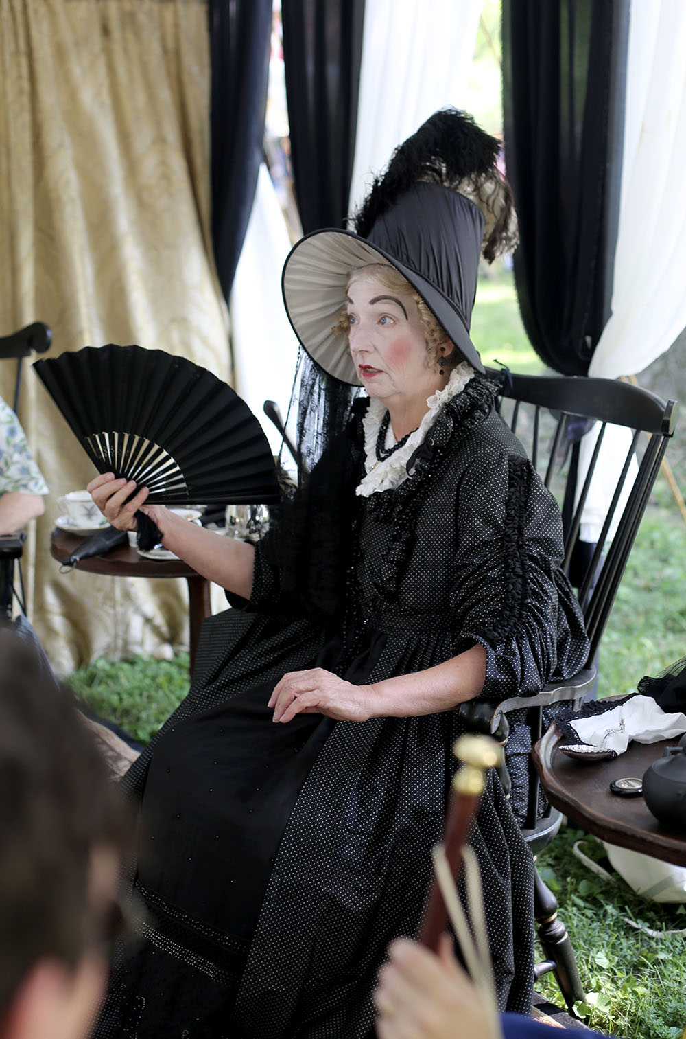 JAF+Society+Lady+in+Partial+Mourning+Attire - Jane Austen Pageant at Locust Grove 2018