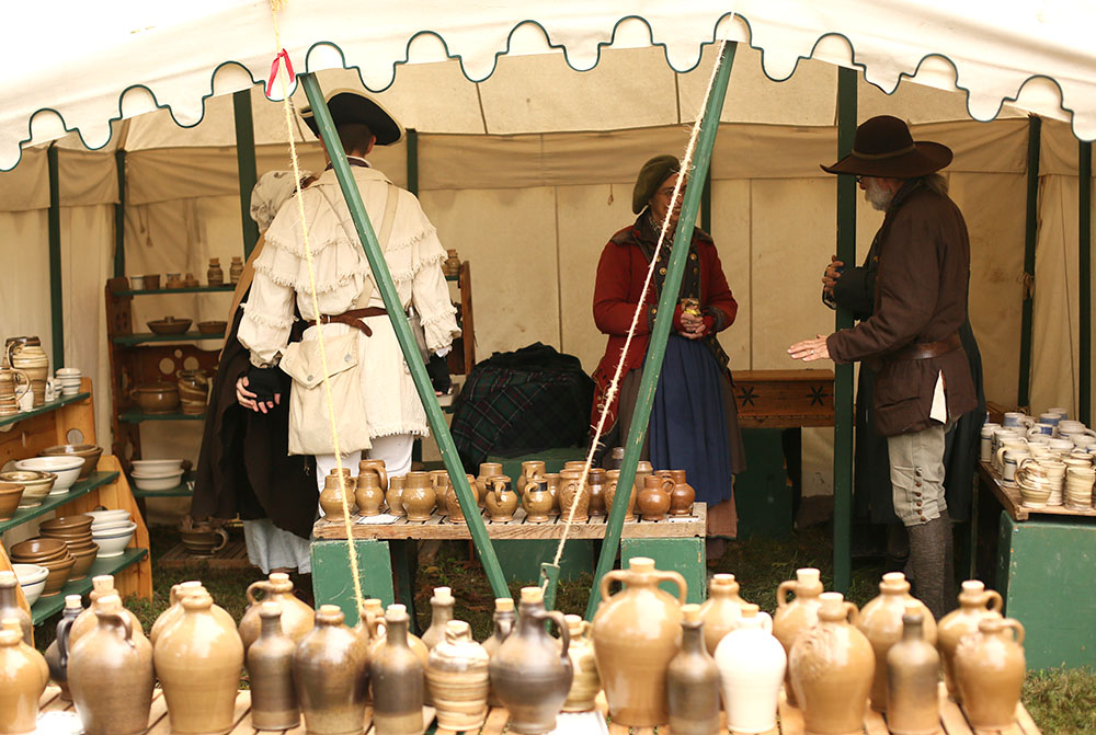 An example of what the market fair booths look like.