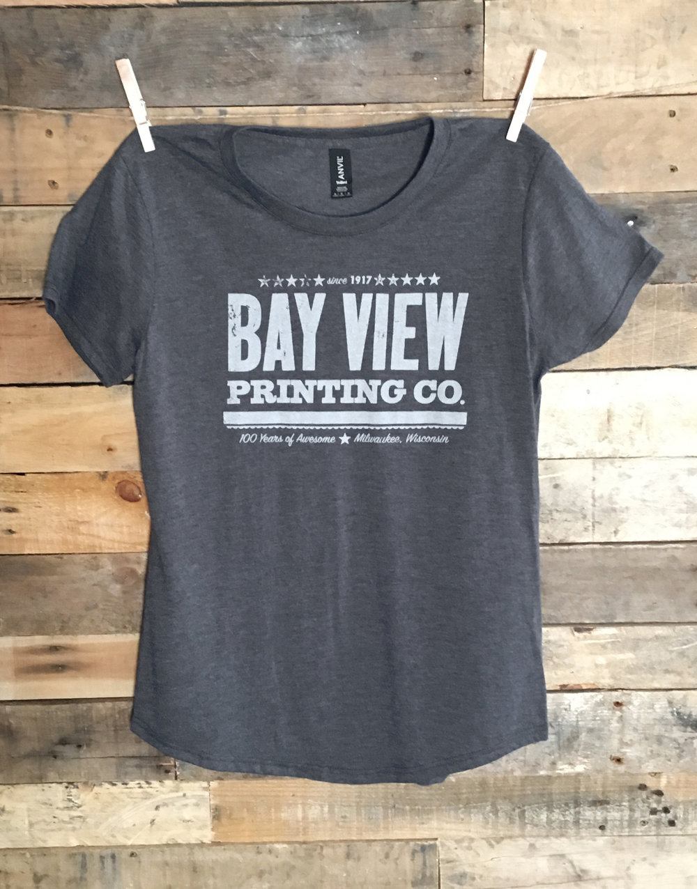 Womens Classic Logo T Shirt Bay View Printing Co