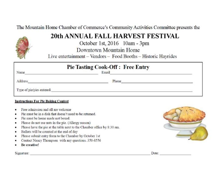 Click  HERE  for a printable version of the pie contest.