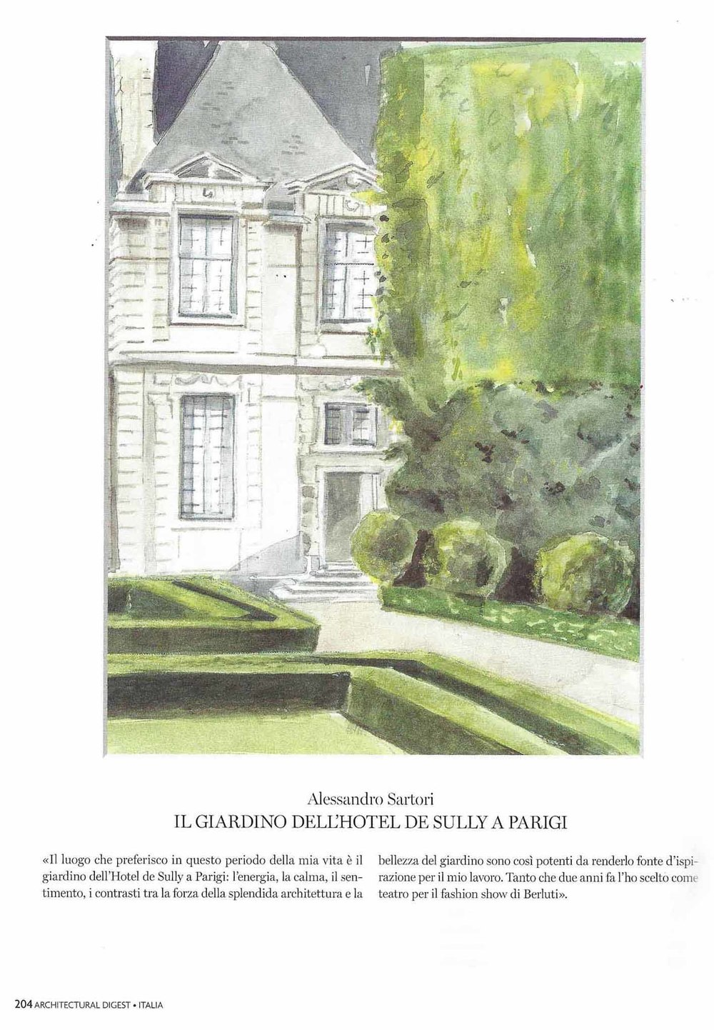 Alessandro Sartori - Gardens of Hotel de Sully