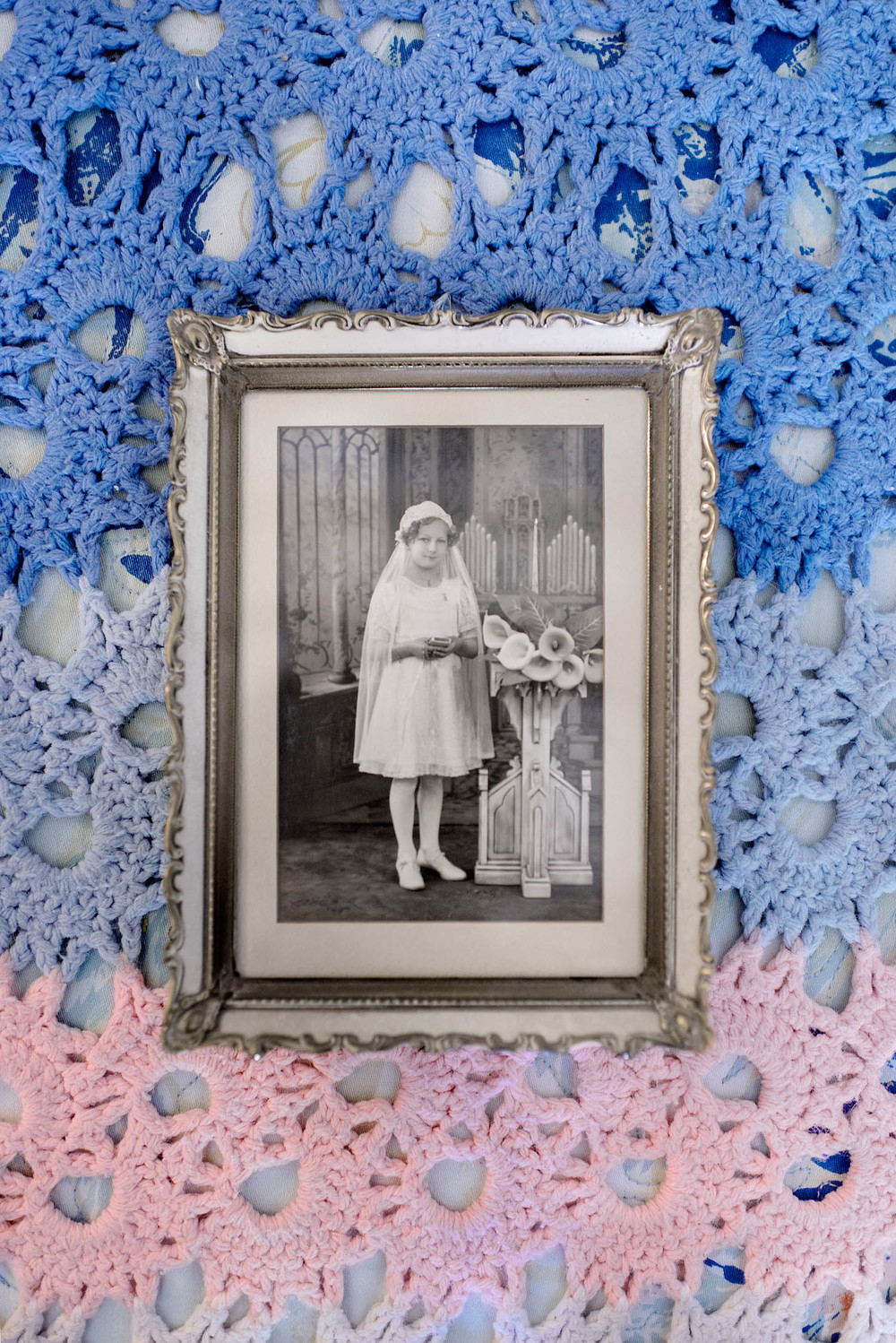 Picture of Janice's mother's first Holy Communion