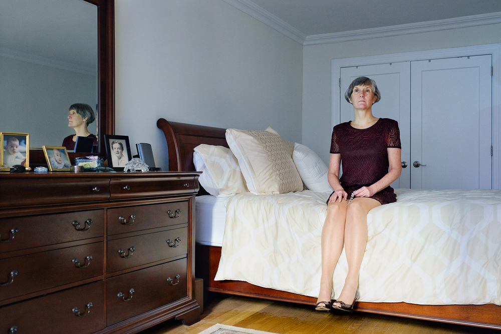 Portrait of Denise Menard Davis in her bedroom, march 2015.  Denise will be ordained priest the 1st august 2015. Denise is grandmother and currently studying in seminary and gaining a theological degree in New Mexico.
