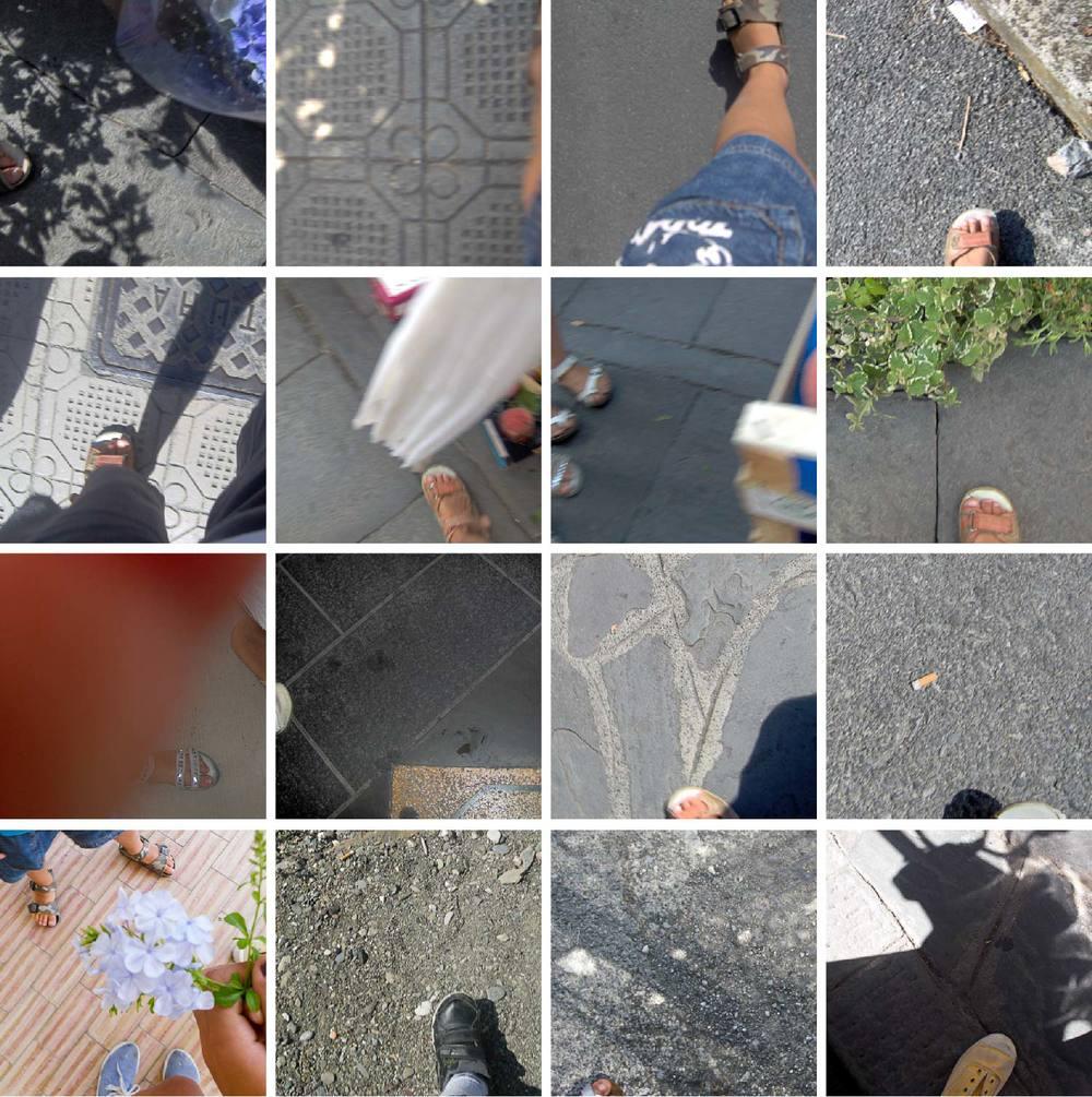 """16 foto in cui si vede il piedino di chi sta scattando (invece che un autoritratto sono una specie di """"autopiedino"""")."""