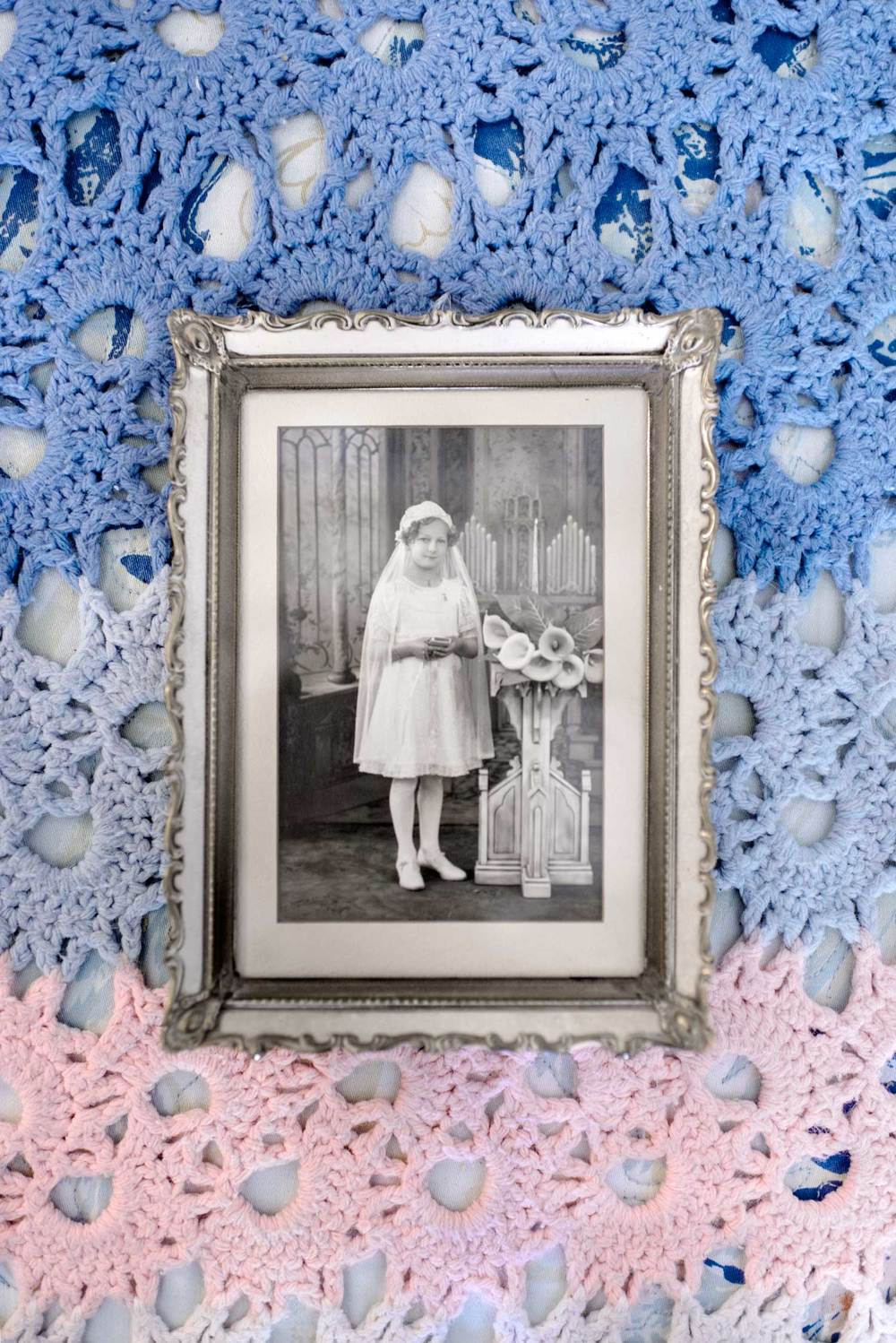 February 2013. The Mother of Reveren Janice Sevre-Duszynska the day of her first holy communion.