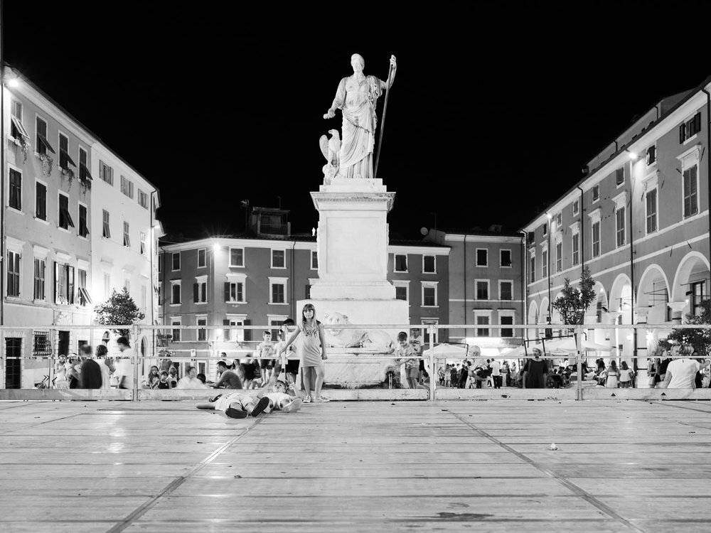 "Piazza del Duomo is the main square of Carrara. Every year they celebrate ""Carrara in white"", performing music in the city and asking all the residents to dress in white, like marble. This is a nice initiative in a city that is generically perceived from its own citizens as ruined down and defeated. People of Carrara are historically considered the opposite: they were not conquered by the Romans, neither from Florence in the Renaissance. More recently, during World War Two, a march of women and children sent away the Nazist troops from their city. 