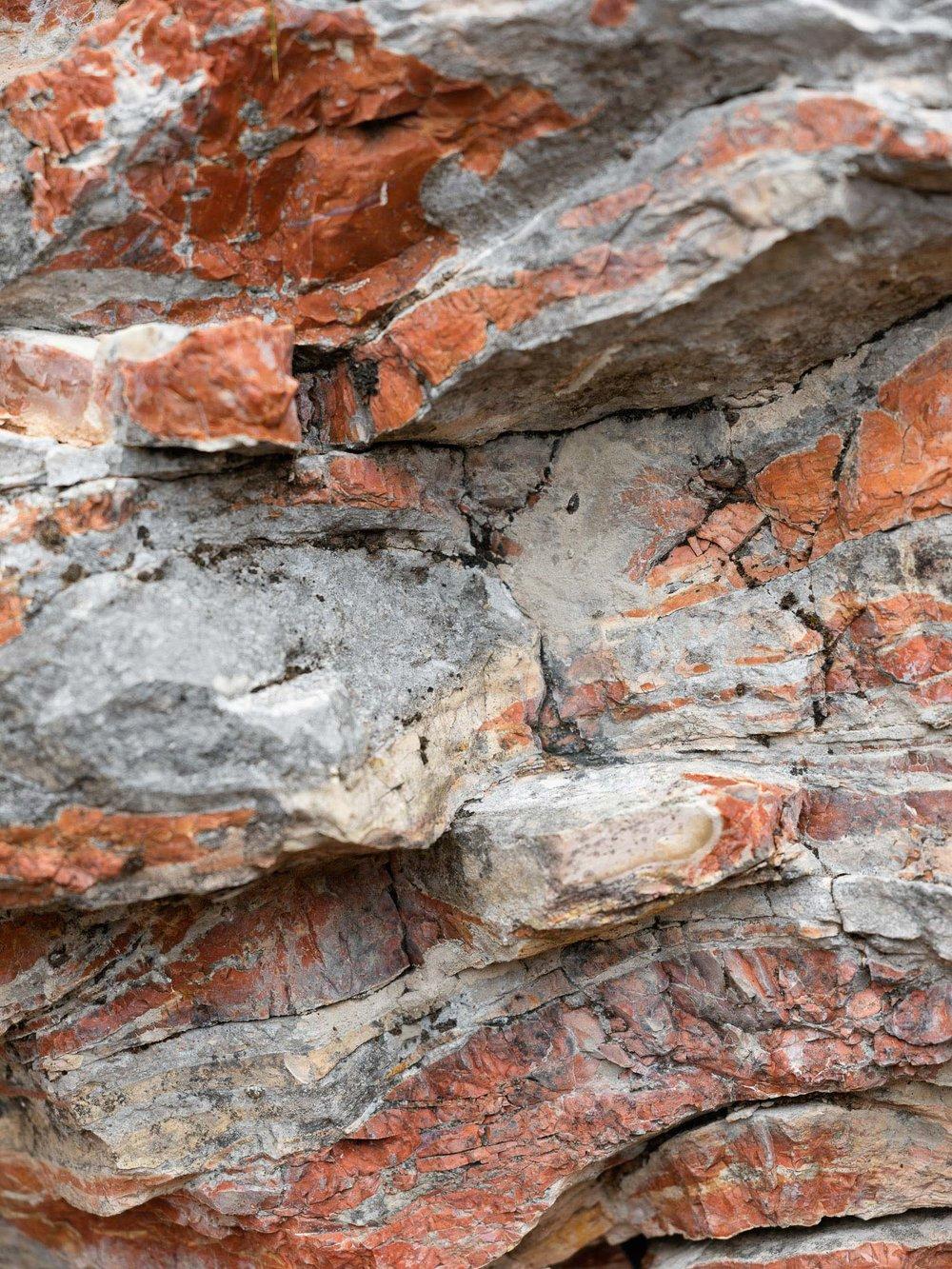 Forra del lupo, dettaglio parete trincea