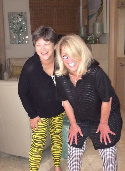 Mimi and Anita on a girl trip to Fl. They didn't forget to pack their Gameday!