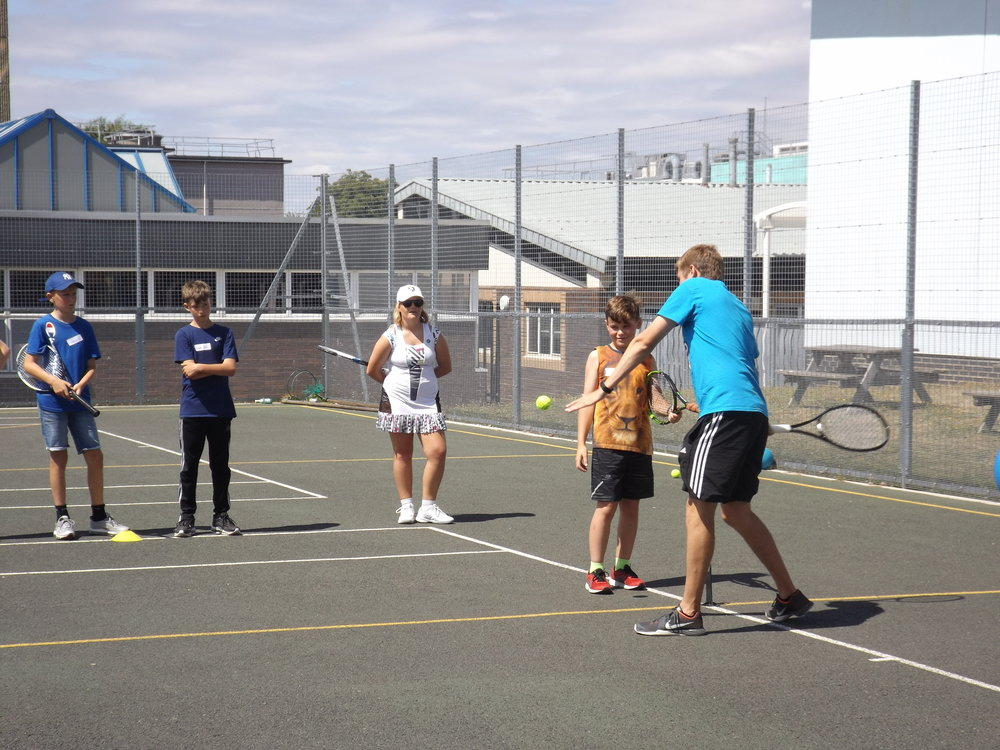 teens tennis - Our teens lessons are social, challenging and competitive. Each week will feature a different theme and each theme will help improve your child's overall game.