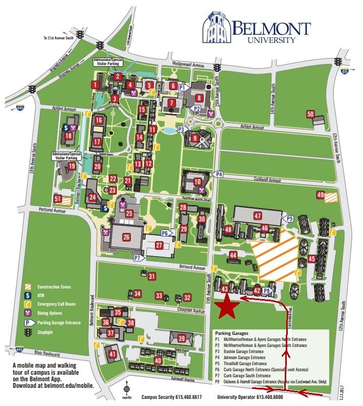 Belmont Map — Nashville Ballet