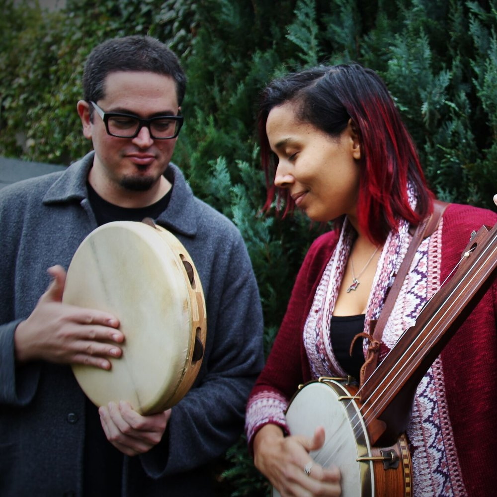 Francesco Turrisi and Rhiannon Giddens