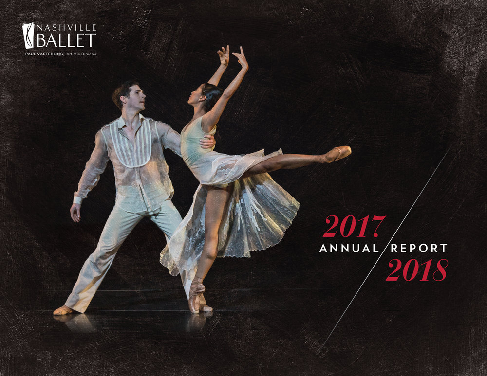 Read our 2017-2018 Annual Report to learn how your support impacted Nashville Ballet.