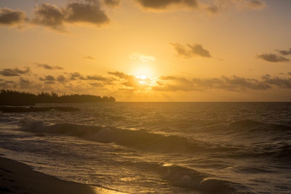 A few minutes after sunrise over Grand Bahama island.