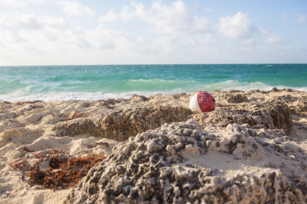 I spotted this washed up buoy a couple hours after sunrise in Grand Bahama with the sun high in the sky! Looks inviting doesn't it?!