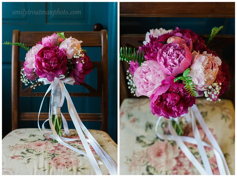 Hannah's dear friend Brenda grew and created all the florals! They were just gorgeous!