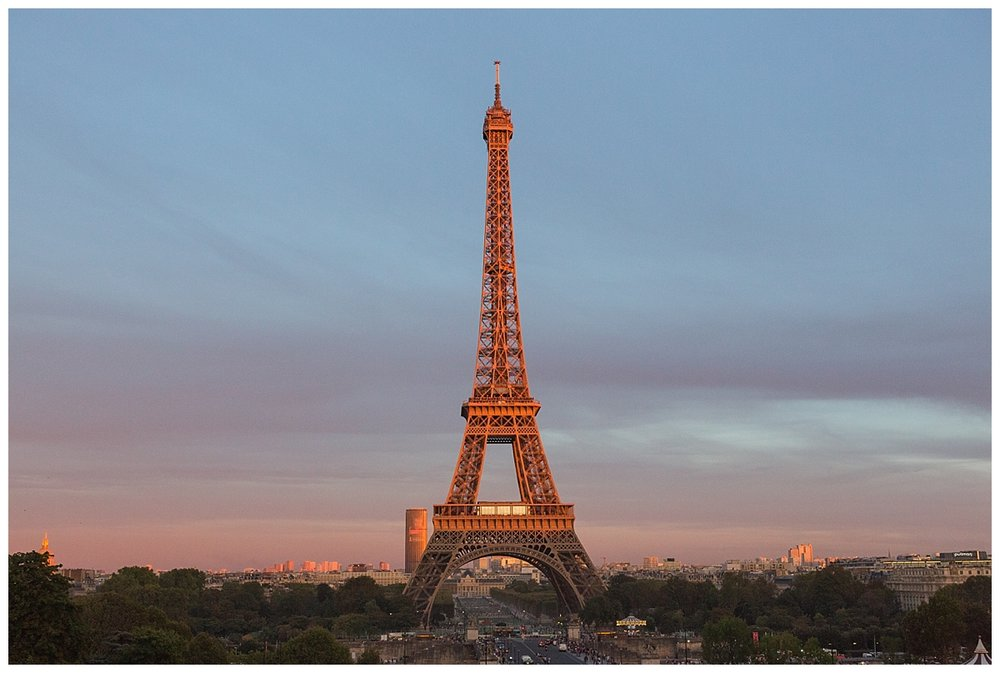 Sunset at Eifle Tower