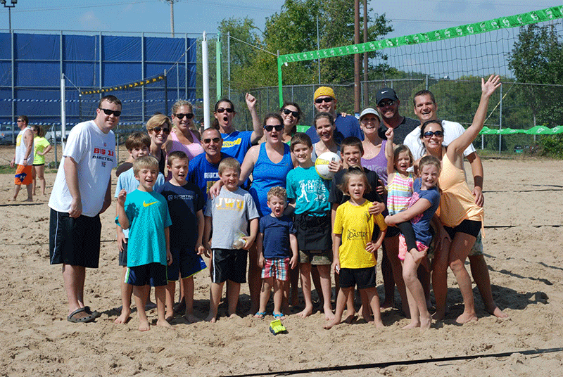 Team Lukacs at the 2014 Sandy Paws Beach Volleyball Tournament
