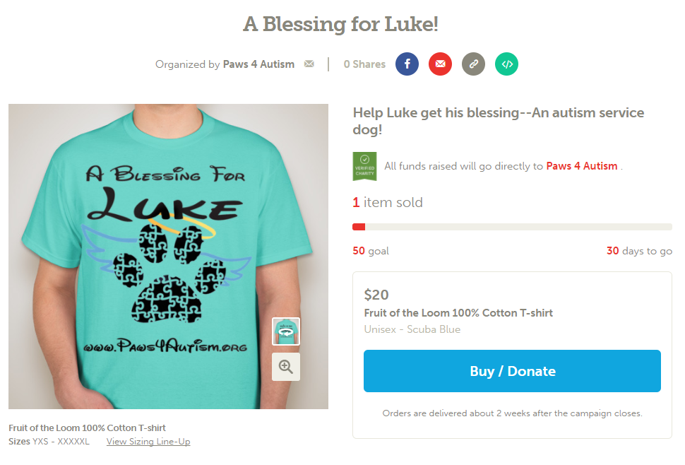A Blessing for Luke  Booster Fundraiser.png