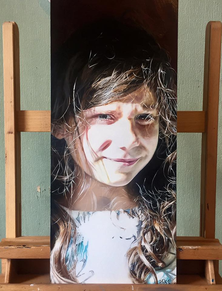 """It is an absolute privilege to have Adam's artwork in our home. He has produced what is not only a beautiful portrait of our daughter, Isabel, but something with ethereal beauty that captures so much of her personality. I can't imagine a day that I will ever tire of looking at it and I can't thank Adam enough for his hard work, vision and talent."" -  Stephanie Maia, Edinburgh."