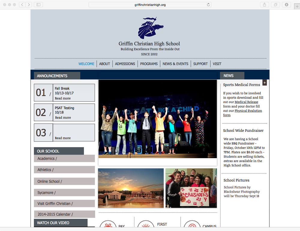 Griffin Christian High School Home Page.jpg