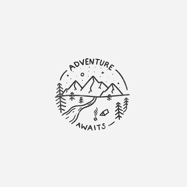 Adventure awaits, you just gotta get out there and find it 🌲⛺️ People have been asking about my process for these - swipe right to see 40 minutes of drawing condensed into 56 seconds!