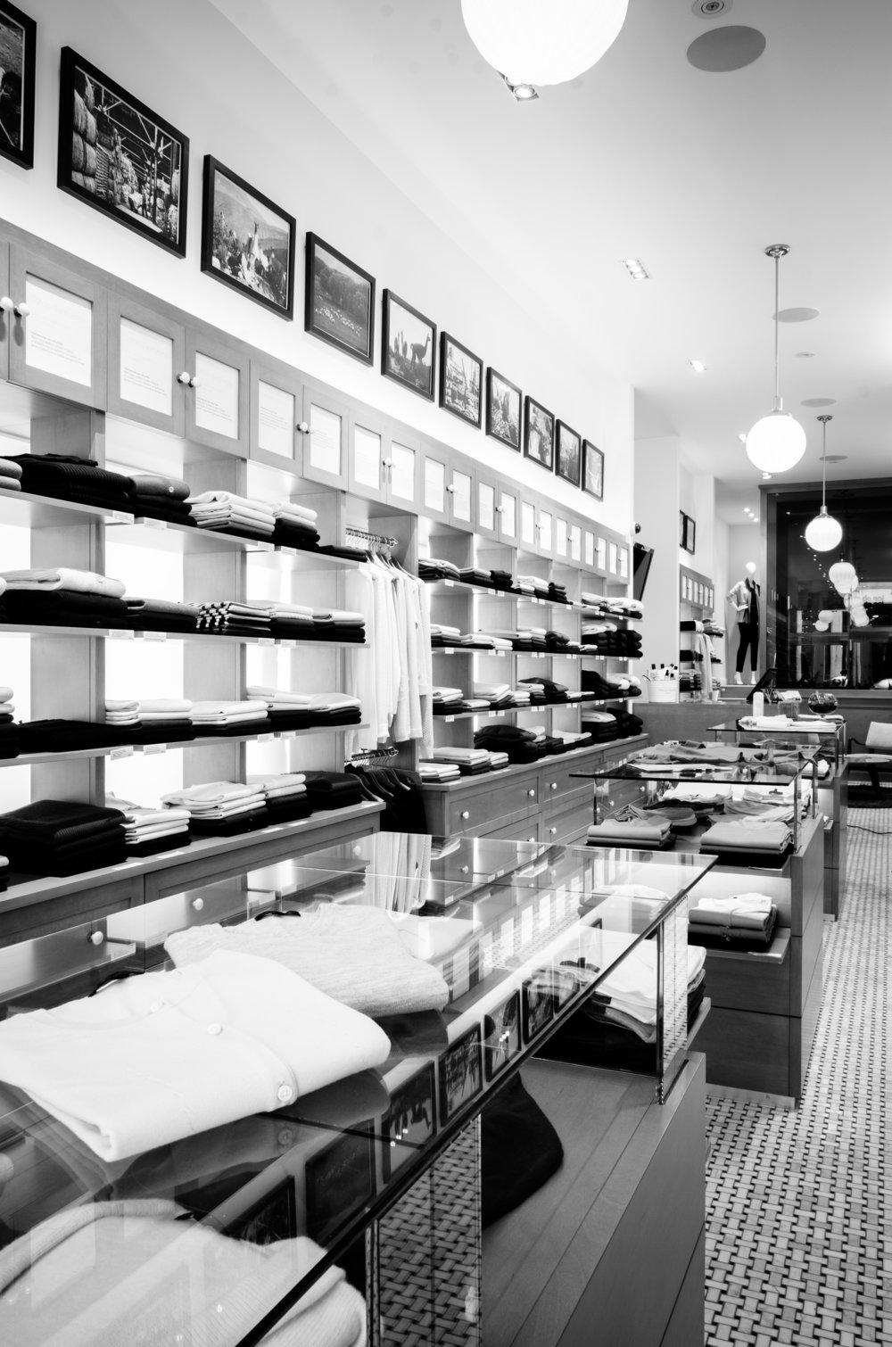 Boutique spécialisée de tricots - vieux québec - ville de québec shopping - laine de mérinos, cachemire, et coton égyptien