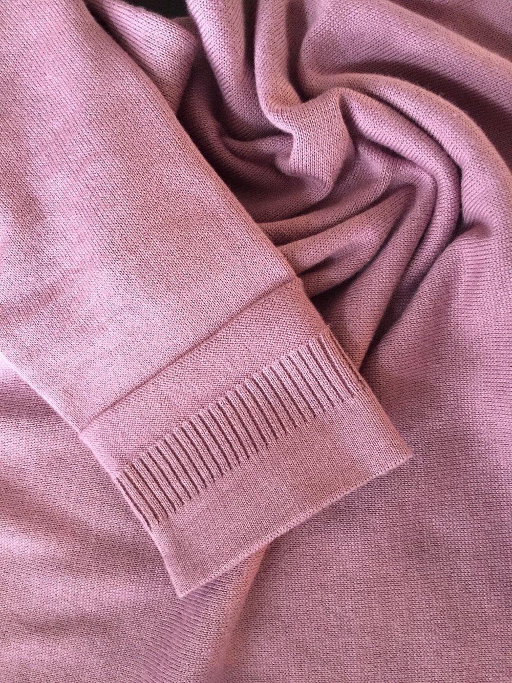 Joan-60s knit dress - 70s floral purple
