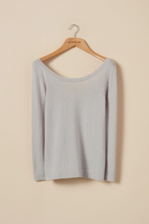 Ballerina-style cross stitch detail sweater